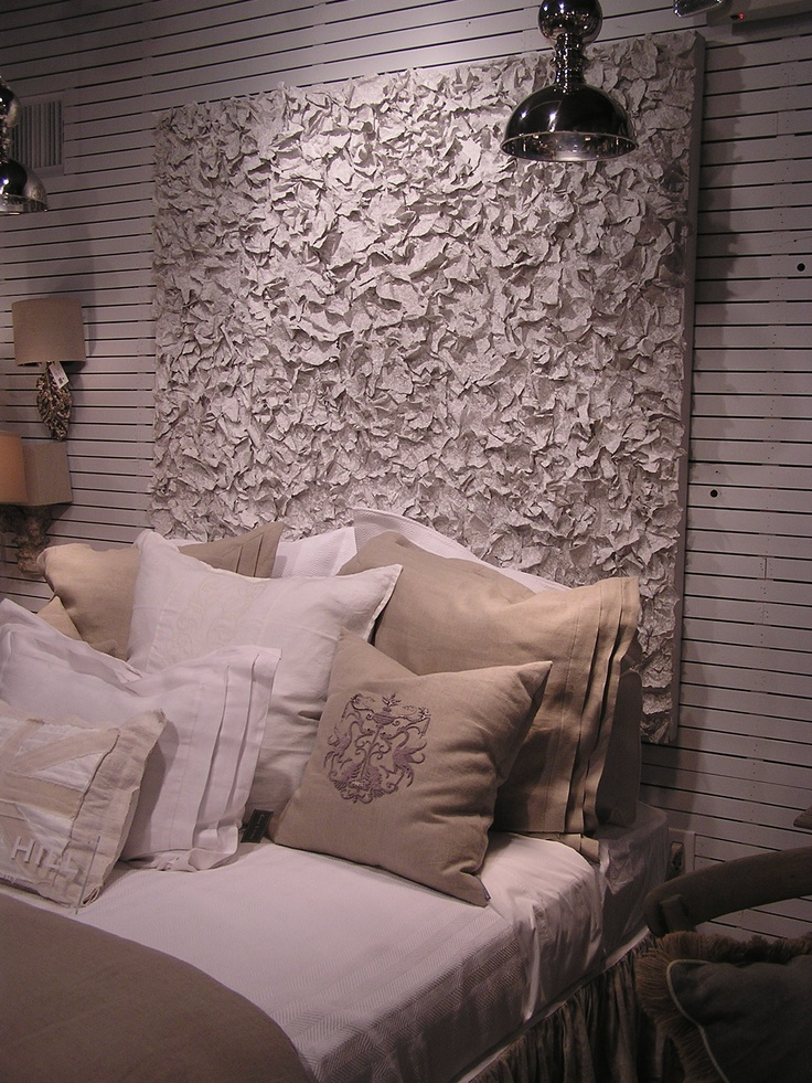 GrayLiving: Canvas Made With Paper Mache And Spackle, As Headboard Idea.  Homemade ...