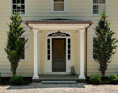 Crisp Architects Traditional Entry Farmhouse Front DoorsColonial