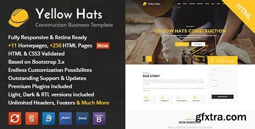 ThemeForest - Yellow Hats v1.1 - Construction, Building & Renovation HTML Template - 15675754
