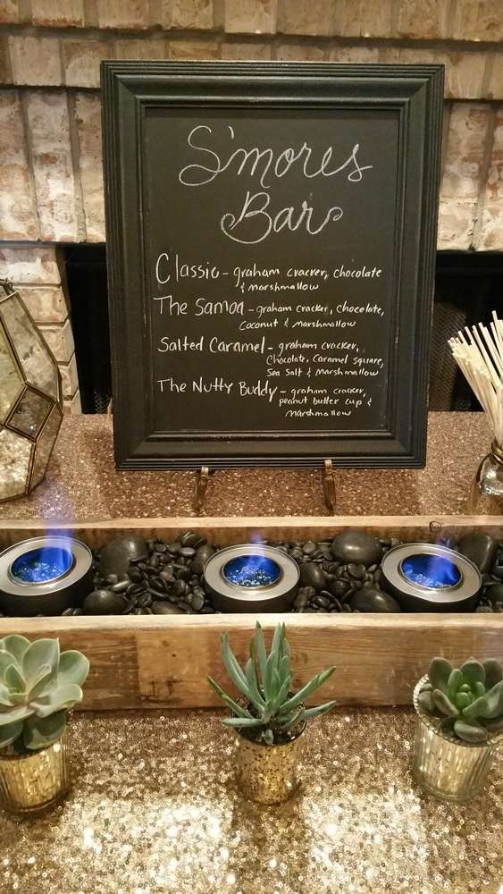 Sparkly Smore's Bar Birthday Party Ideas | Photo 9 of 15