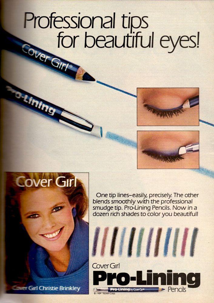1985 Cover Girl Makeup Christie Brinkley Print Ad Vintage Advertisement VTG 80s | eBay