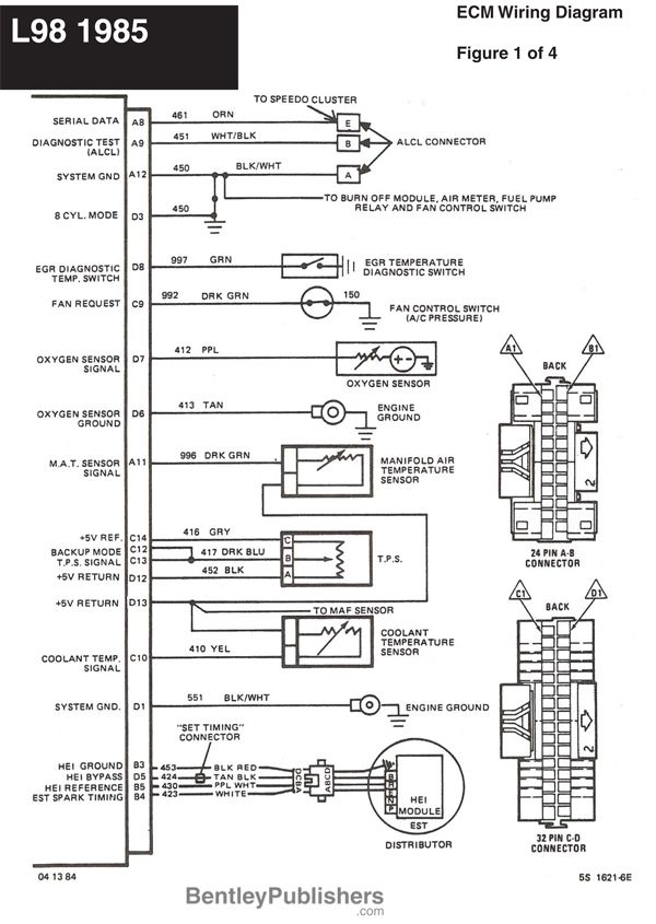 12 Volt Horn Relay Wiring Diagram Corsa C Headlight - L98 Engine 1985-1991 (gfcv) Tech Bentley Publishers Support | Projection ...