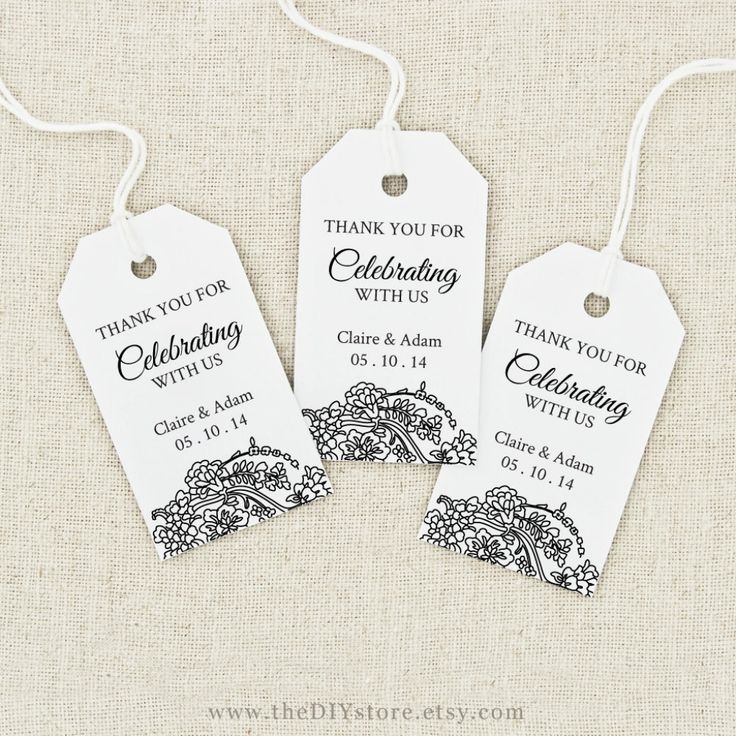 Gorgeous image intended for printable wedding favor tags
