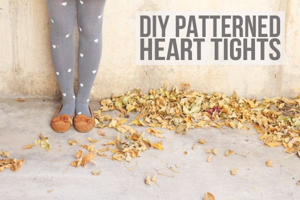 Lemon Jitters: DIY: Patterned Heart Tights. I could totally make kitty tights with the cat hole punch I have.