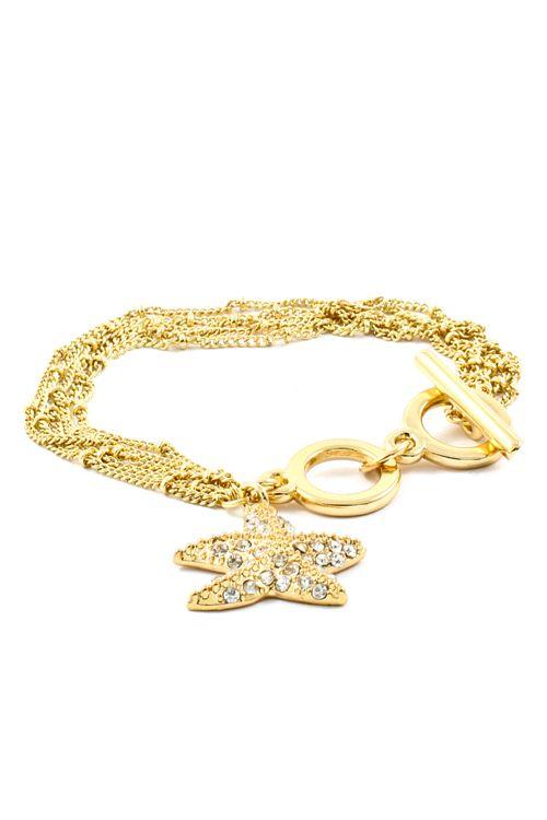 Crystal Starfish Bracelet