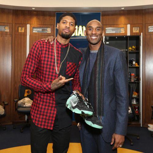 Paul George and Kobe Bryant
