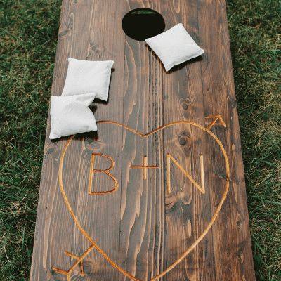 Stunning Mountainside Wedding: Reception Games
