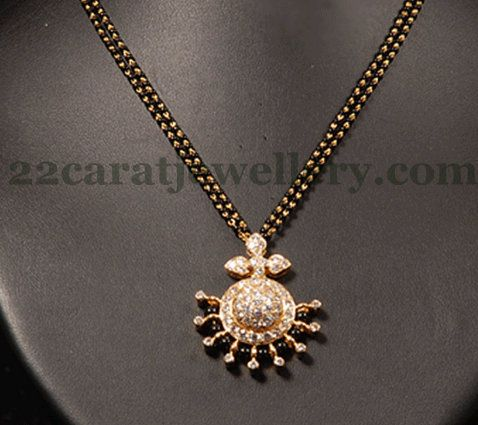 Jewellery Designs: Mangal Sutra with Classy Locket