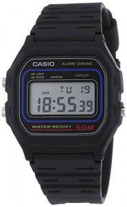 #Casio – W-59-1VQES – #Vintage – #Montre Mixte – Quartz Digital – Cadran #LCD – Bracelet Résine Noir