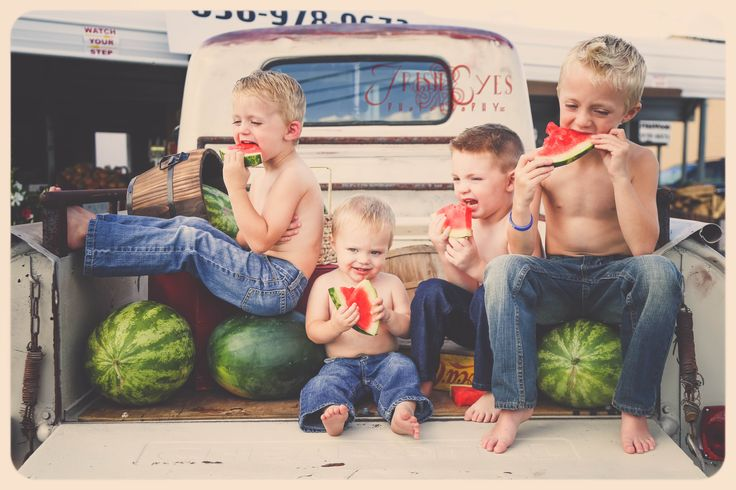 The Boys of Summer. Watermelon photo shoot! Boys will be boys!  https://www.facebook.com/photo.php?fbid=714108678656795&set=a.714108495323480.1073742279.133234533410882&type=1&theater  www.facebook.com/irisheyesphotography