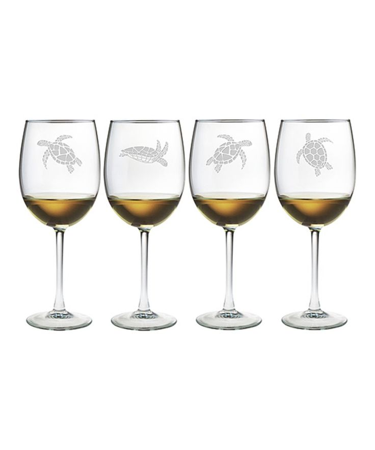 Take a look at this Sea Turtle Wineglass - Set of Four today!
