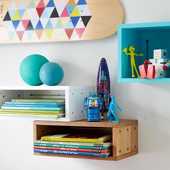 Shop Large Cubby Narrow Wall Shelf (White).  As kids, we spent our time building creations with blocks.  As adults, we time cleaning up those blocks.  We figured we'd combine those two activities with this modular shelving system.