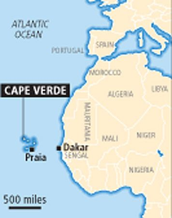Cape Verde Africa Map Miles Months Nationwide - Cape verde map