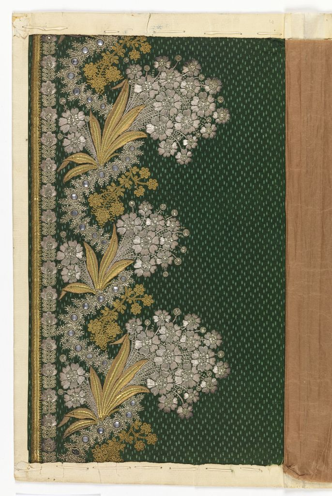 Embroidery Sample, 1770–1810