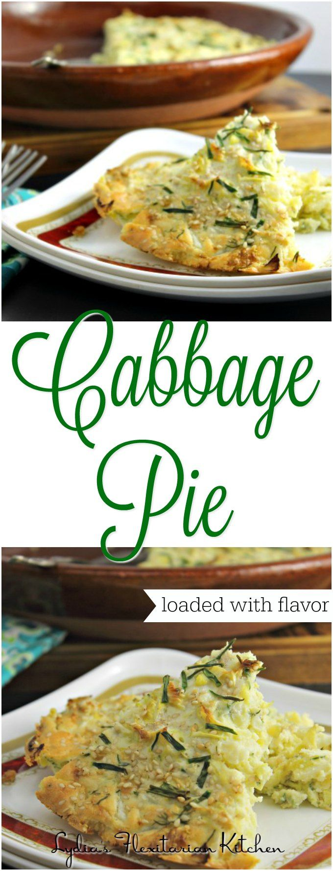 Cabbage, onions and dill baked together with a simple batter make this fabulous cabbage pie. The flavor can't be beat! You'll love it!