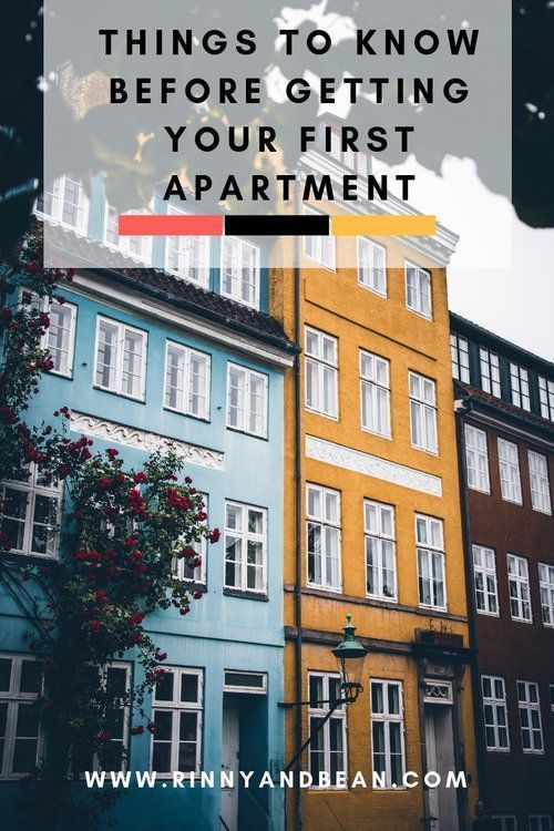 4 Things To Know Before Getting Your First Apartment First