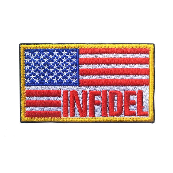 "INFIDEL US USA Flag Morale Patch INFIDEL Tactical Badge 3.5""x2"" American Flag Patch Hook/Loop Embroidered Applique Armband Badge #Affiliate"