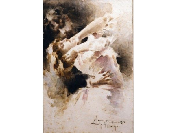 """""""Coppia danzante"""" - Luigi Conconi, 1888"""