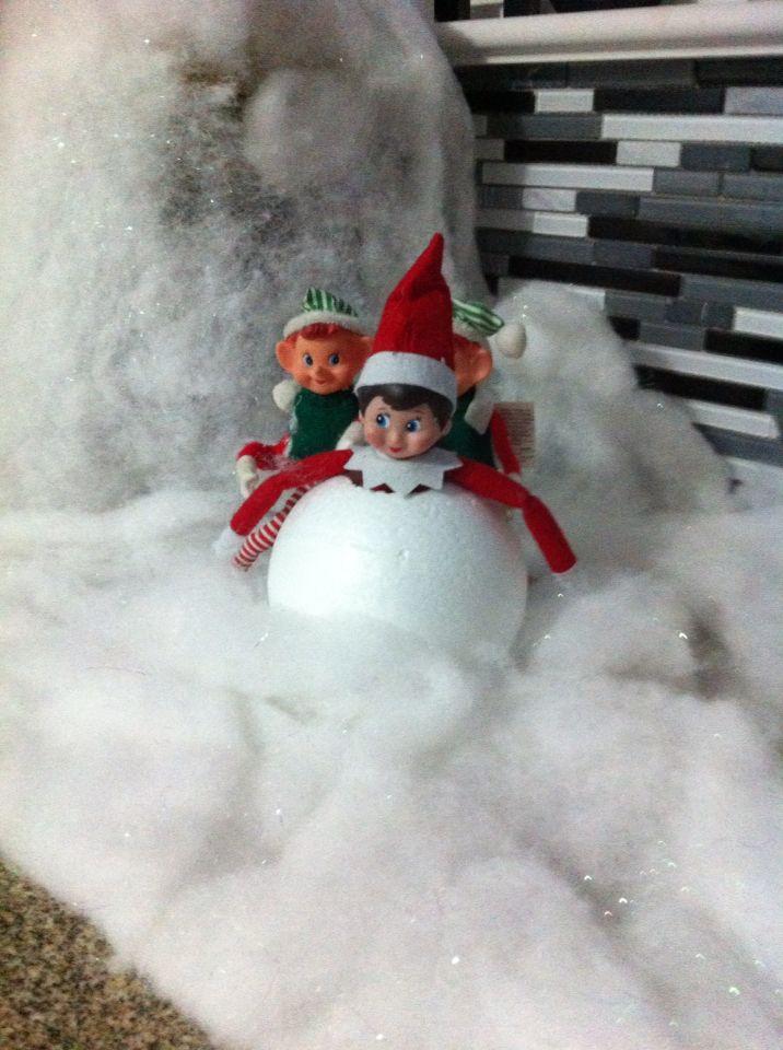 Snowball elf   Elf on the shelf ideas   Pinterest   Elves ...