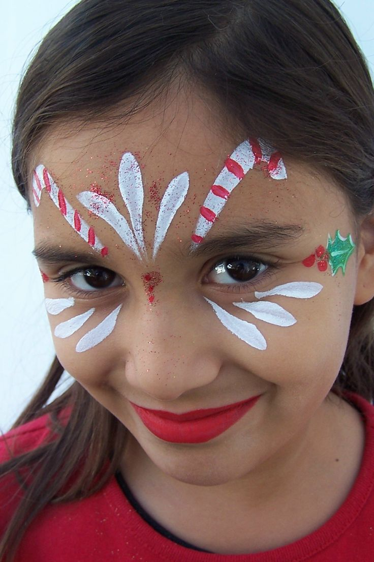 Candy Cane Princess Inspo For Winter Doll Find This Pin And More On Holiday Face Paint Designs