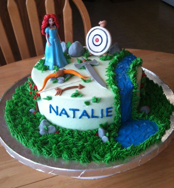 Brave cake - Butter cream frosting with fondant accents.  Doll was purchased...
