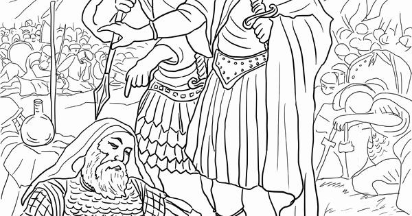 David Spares Saul Coloring Page Awesome 4 David Spares King Saul