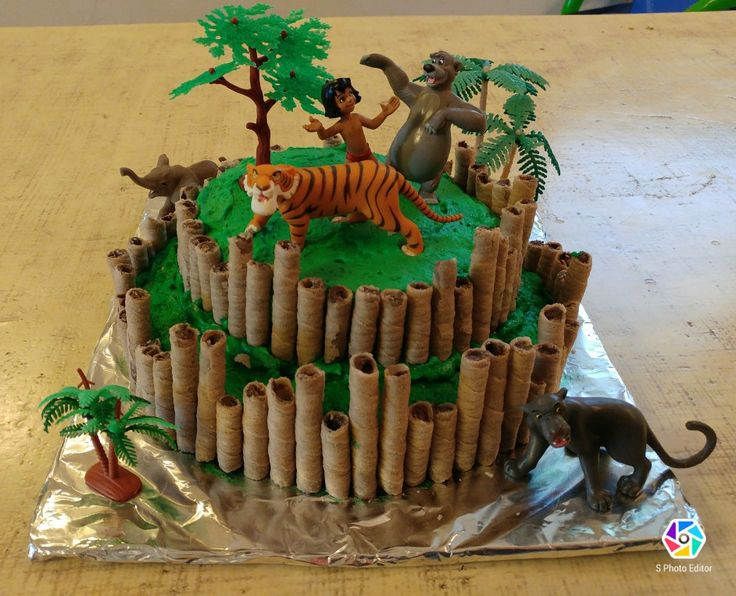 Jungle book birthday cake