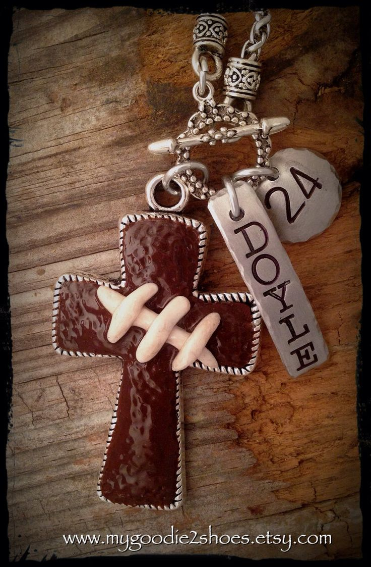 A personal favorite from my Etsy shop https://www.etsy.com/listing/201469681/football-necklace-football-mom-football