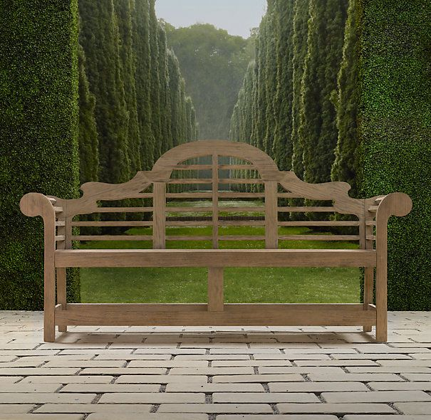 The Classic Lutyens Bench - I have a couple of these, as well as two matching chairs. Love them!