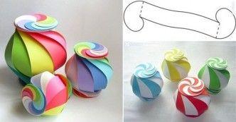 DIY Rainbow swirl snack gift box tutorial, instruction. Follow on Facebook: on.fb.me/1rS94F4