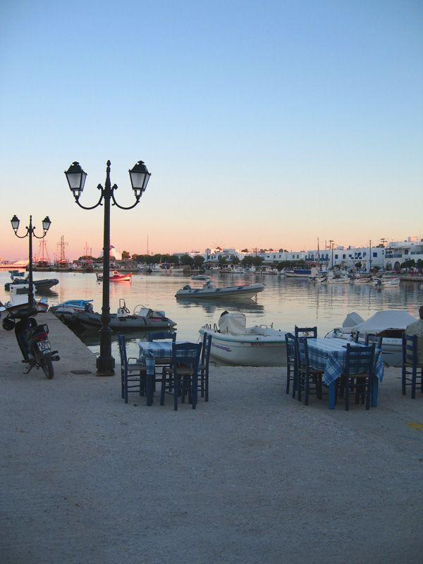 Antiparos harbor