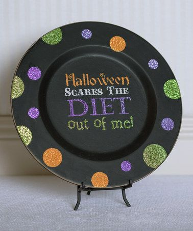 Take a look at this 'Halloween Scares the Diet Out of Me!' Decorative Plate by Adams & Co. on #zulily today!