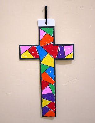 untuk anakanak sekolah minggu: Cara Membuat Salib dng Kertas.