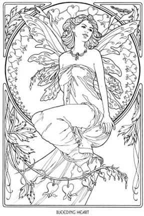 floral fairies coloring book - Fairy Coloring Books For Adults