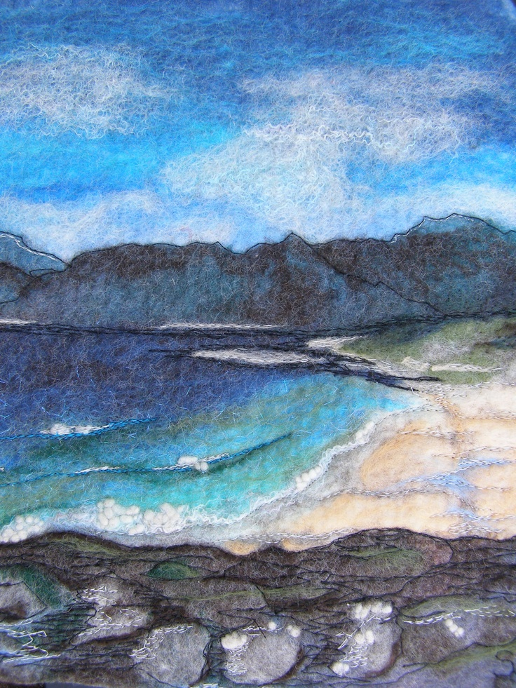 Isle Of Harris' Original Felt painting by ReflectionsInFelt
