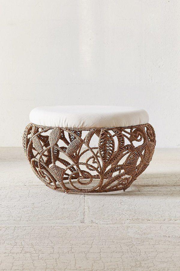 Rope Lace Tiara Ottoman