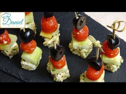 Fingerfood -- Mediterrane marinierte Feta Spiesse  -- Folge 37 -- - YouTube