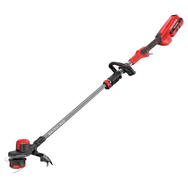 Craftsman Cordless Edge Trimmer 60 V Red And Black Cmcst960e1 Rona Best Lawn Mower Outdoor Landscape Lighting Small Yard