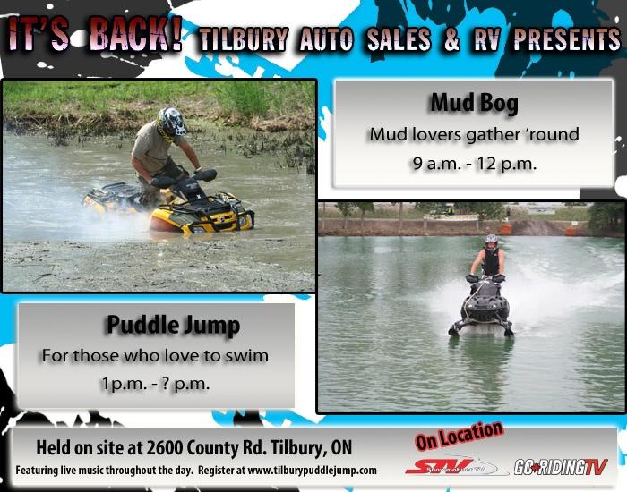 Tilbury Puddle Jump and ATV Mud Bog - August 25th. Don't miss it.: August 25Th, Mud Book, Atv Mud, Tilbury Puddle, Puddle Jump
