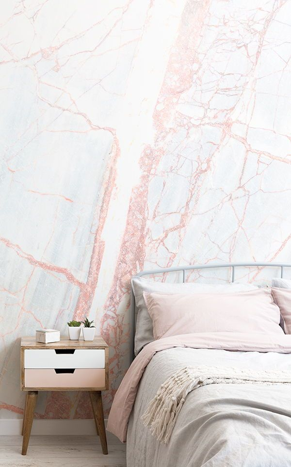 Pin By دارين السلمي On New Bedroom 2020 In 2020 Girls Bedroom Wallpaper Marble Wallpaper Bedroom Pink Marble Wallpaper
