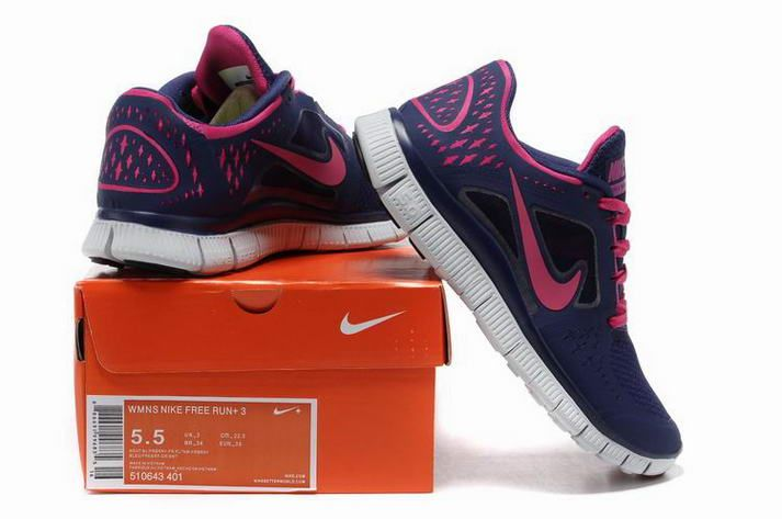 Navy Pink Nike Free Run 5 Women Shoes New Style 8