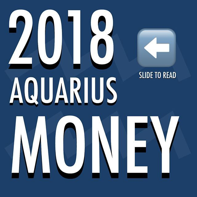 2018 #Astrology Predictions / Guidelines for MONEY for Aquarians. . 💜 Remember to look up the 'Predictions' / Guidelines for your Ascendant sign, and Moon sign too. (If you don't know them search online 'free ascendant calculator' and 'free moon sign calculator' and then research 2018 and those signs, eg Pisces and love 2018... Scorpio and Career 2018. 💜 . #ClassicAquarius #Aquarius #Aquarian #ClassicAquarius #Aquarius #Aquarian