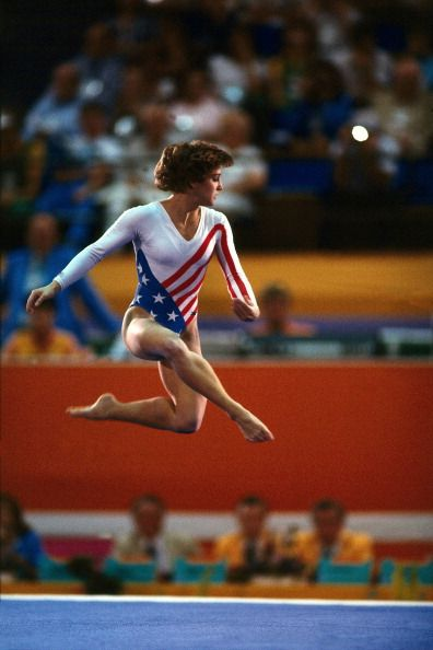 1984 Summer Olympics USA Mary Lou Retton in action during floor exercises at Pauley Pavilion Los Angeles CA 8/3/1984 CREDIT Neil Leifer
