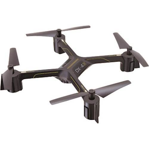 Sharper Image - DX-4 Drone with Remote Controller - Black/Yellow