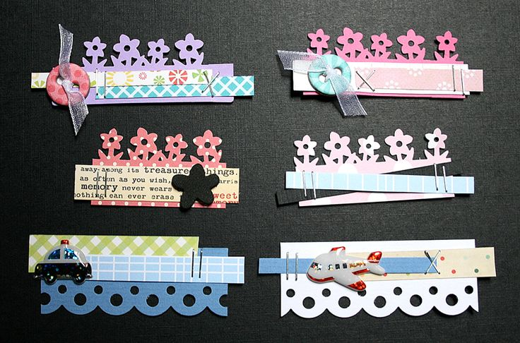 layered cut border and strips embellishments