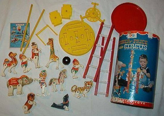VINTAGE FISHER PRICE COMPLETE JUNIOR CIRCUS PLAYSET W/ CANISTER + | Toys & Hobbies, Preschool Toys & Pretend Play, Fisher-Price | eBay!