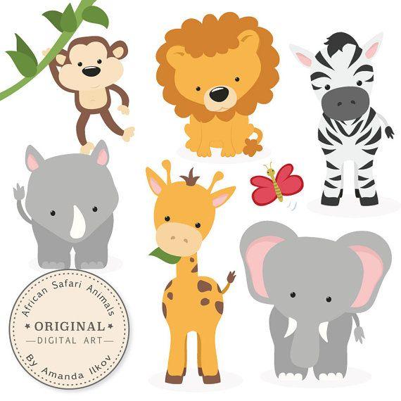 Premium African Safari Animals Clip Art & Vectors por AmandaIlkov