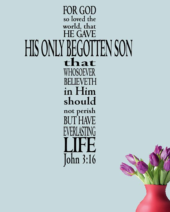 John 316  Bible verse decal Marriage wall by InspirationalDecals, $24.99
