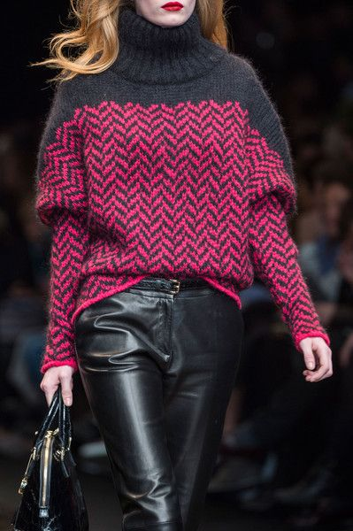 Trussardi 1911 Fall 2014 - Details I love the color combo but would try this in…