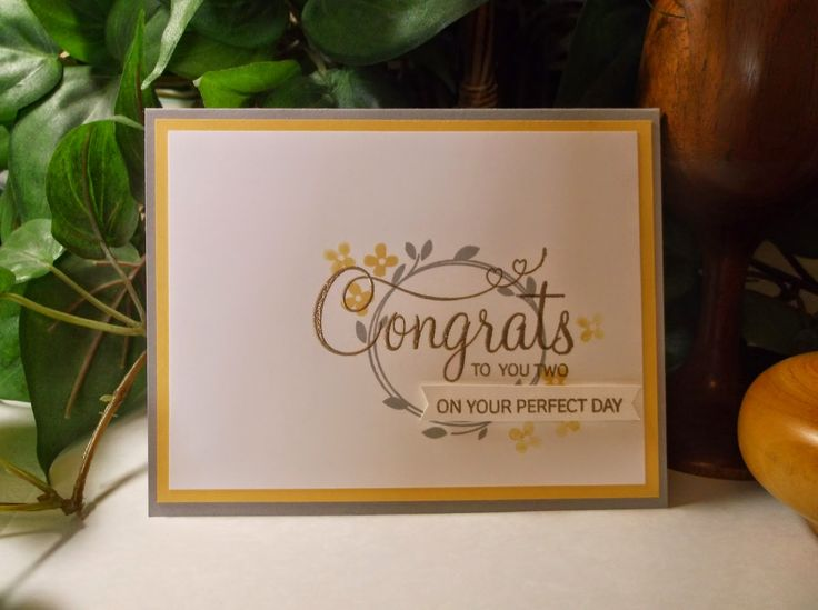 Rachel's Card Corner: Flighty Friday - Your Perfect Day - So Saffron, Smoky Slate Stampin' Up!